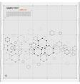 Modern Hexagon background vector image vector image