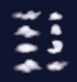 nightly background sky with set of clouds vector image vector image