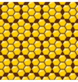 pattern hexagon yellow on brown background vector image vector image