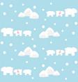 polar bears family and mountain vector image