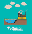 Pollution design over blue background vector image