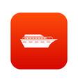 powerboat icon digital red vector image vector image