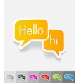 realistic design element chat vector image vector image