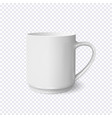 realistic white coffee cup isolated on vector image vector image