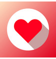 red abstract heart sign vector image vector image