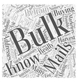 Refrain from Buying Bulk Mails Word Cloud Concept vector image vector image