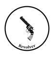 Revolver gun icon vector image