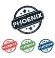 Round Phoenix city stamp set vector image vector image