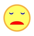 Sad smiley emoticon on white background 203 vector image vector image