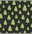 seamless abstract pattern pine trees vector image vector image