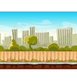 Seamless city landscape cityscape vector image vector image