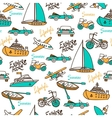 Seamless pattern with different transport vector image vector image