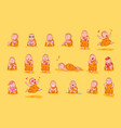 set kit collection sticker emoji emoticon emotion vector image