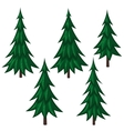 Set of cartoon fir trees vector image vector image