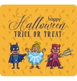 set of characters for Halloween in cartoon vector image