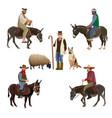 set of shepherds vector image