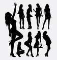 Sexy girl pose silhouettes vector image vector image