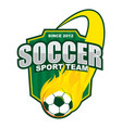 soccer fire ball team logo design vector image vector image
