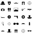 spy icon set vector image vector image