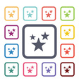 stars flat icons set vector image