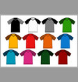 t shirt template raglan vector image vector image