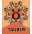 Taurus Bull zodiac astrology icon for horoscope vector image