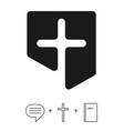 the christian logo church vector image vector image