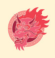 traditional dragon vintage tattoo vector image vector image