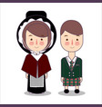 traditional highland dress scotland united vector image