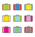 travel bag vintage set vector image vector image