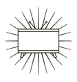 tv plasma flat line icon vector image