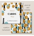 Universal Modern Stylish Card Template with Golden vector image vector image