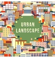 Urban landscape 1 vector image vector image