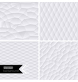 white geometric background White mo vector image