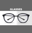 woman female glasses black classic eyewear vector image