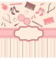 fashion card background vector image