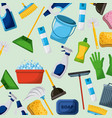 cleaning equipment tools set icons vector image