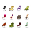 Luxury interior office and plastic chairs vector image