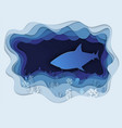 a formidable shark on the hunt vector image vector image