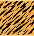 abstract black and orange stripes pattern vector image vector image