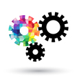Abstract cogwheel on white background vector image