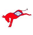 arkansas democrat donkey flag vector image vector image