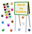 Art school background with easel vector image vector image