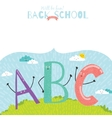 Back to School notes with smiling happy kids vector image vector image
