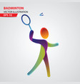 badminton color sport icon design template vector image vector image
