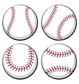 Baseball Ball Set vector image