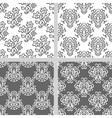 Black and white seamless pattern set vector image vector image