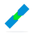 blue fitness tracker flat isolated vector image vector image