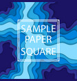 blue paper cut wallpaper vector image vector image