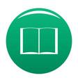 book novel icon green vector image
